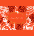 valentines day poster greetings card or vector image vector image
