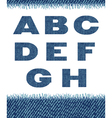 jeans letters a-h vector image