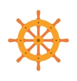 Ship steering wheel sign icon vector image