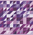 abstract background with purple tone triangles vector image vector image