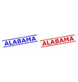 alabama watermarks with grunged surface and vector image vector image