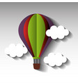 balloon air hot flying in the sky vector image