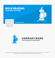 blue business logo template for strategy chess vector image