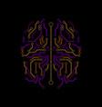 brain logo icon sign technology design vector image