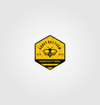 bumblebee logo village farm design vector image
