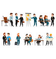 business people icon set vector image vector image