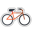 cartoon bicycle recreation transport icon vector image vector image