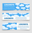 cartoon clouds horizontal banners template vector image vector image