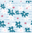 chamomile flowers seamless doodle pattern pastel vector image vector image