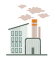 chemical factory or industrial building nuclear vector image vector image