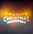 Christmas calligraphy on blured background vector image vector image