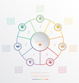 Circle from 7 coloured lines vector image
