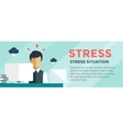 Clerk at Stress Office Table vector image