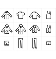 Clothing icons set 1 vector | Price: 1 Credit (USD $1)