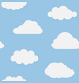 cloud in sky seamless pattern cartoon for kid vector image vector image