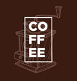coffee grinder cafe or bar hot drink beans vector image vector image