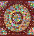 colorful flower mandala background doodle vector image vector image