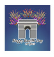 concept for the french national day bastille day vector image