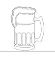 Continuous one line drawing beer pint