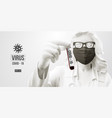 coronavirus covid19-2019 woman in white black mask vector image