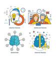 creative process workflow process brainstorm vector image vector image