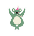 cute coala bear wearing party hat with whistle vector image vector image