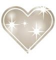 decorative heart blurred bright romantic love vector image