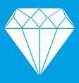 diamond icon white vector image vector image