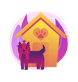 dogs friendly place concept metaphor vector image vector image