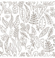 doodle floral seamless pattern with florals vector image