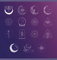 esoteric logo designs and templates collection vector image vector image