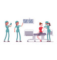 female nurse at medical procedure vector image vector image