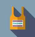 Finisher Singlet Of Marathon Runner vector image vector image