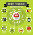 fitness infographic concept flat style vector image vector image
