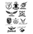 football or soccer sport club isolated symbol set vector image vector image