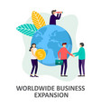 global business development strategy vector image vector image