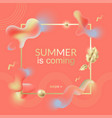 gold and coral banner template square vector image