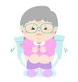grandmother suffer from diarrhea cartoon vector image vector image