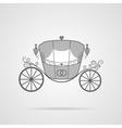 Gray Wedding Carriage Icon vector image