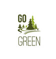 green forest tree icon for nature ecology vector image vector image