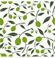 green olives natural seamless white pattern eps10 vector image vector image