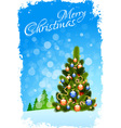 Grungy Christmas Greeting Card vector image vector image