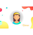 hand-drawn woman avatar vector image