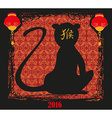 Happy Chinese New year 2016 year of the monkey vector image vector image