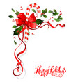 holiday floral decoration vector image vector image