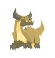 horned dragon monster mythical and fantastic vector image vector image