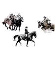 horse trio vector image