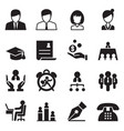 human resource business management icons set vector image vector image
