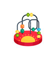 icon of colorful bead maze toy fun and vector image vector image