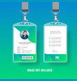 id card vector image vector image